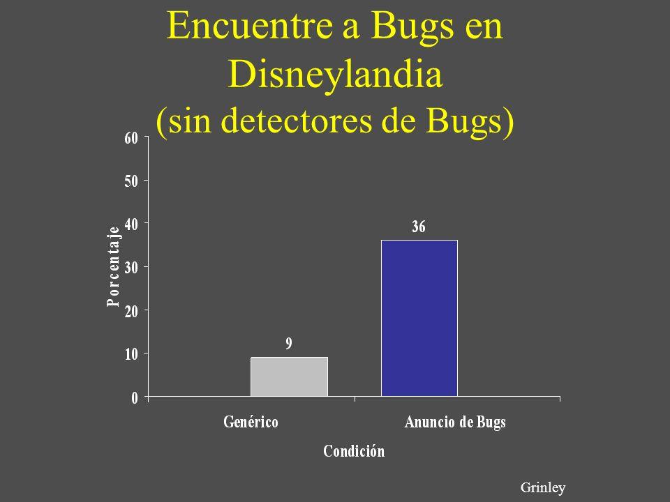 Encuentre a Bugs en Disneylandia (sin detectores de Bugs) Grinley