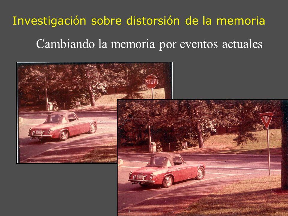 Investigación sobre distorsión de la memoria Cambiando la memoria por eventos actuales