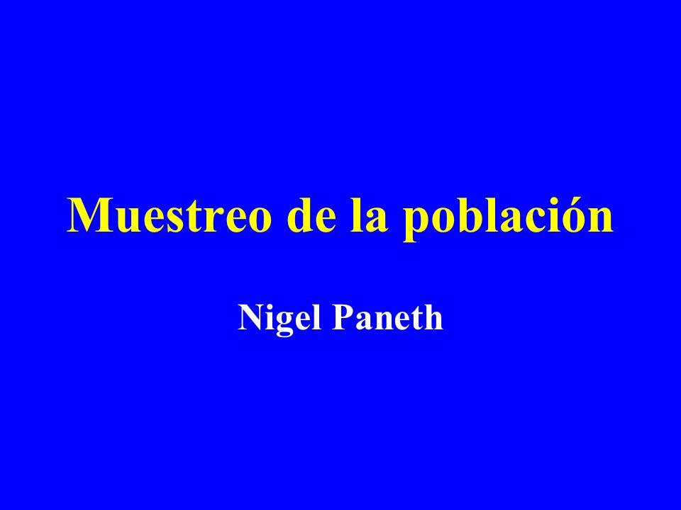 Muestreo de la población Nigel Paneth