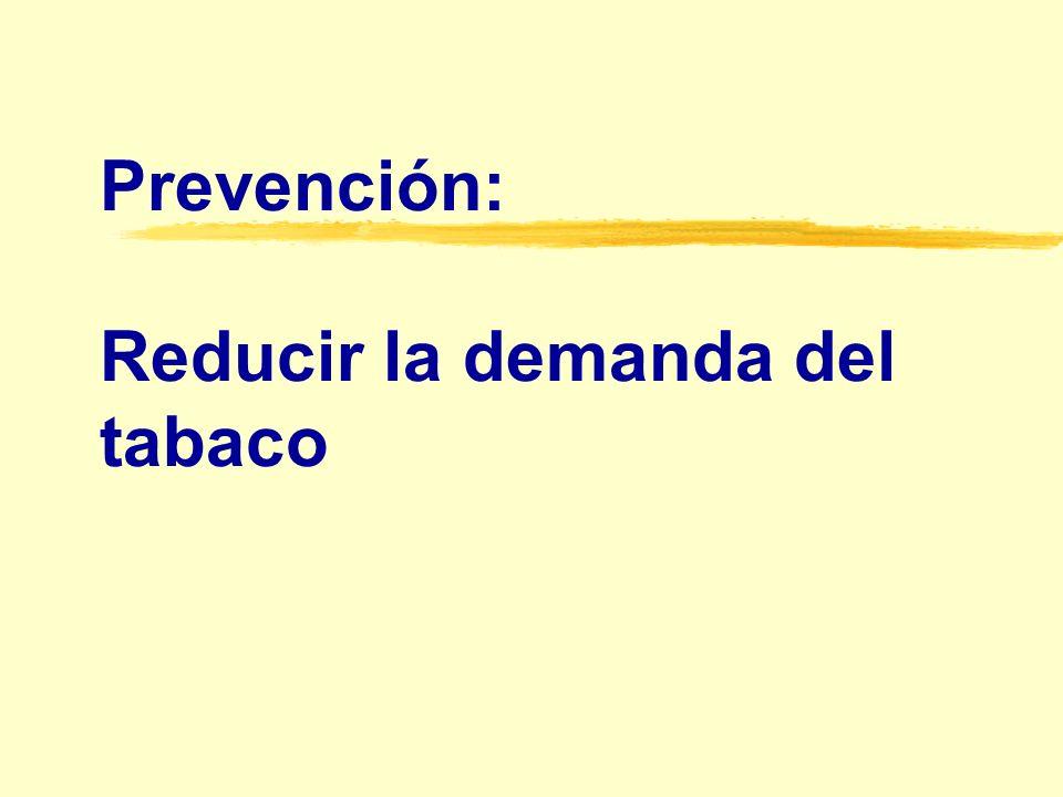 Efecto del aumento de los impuestos sobre el consumo de cigarrillos
