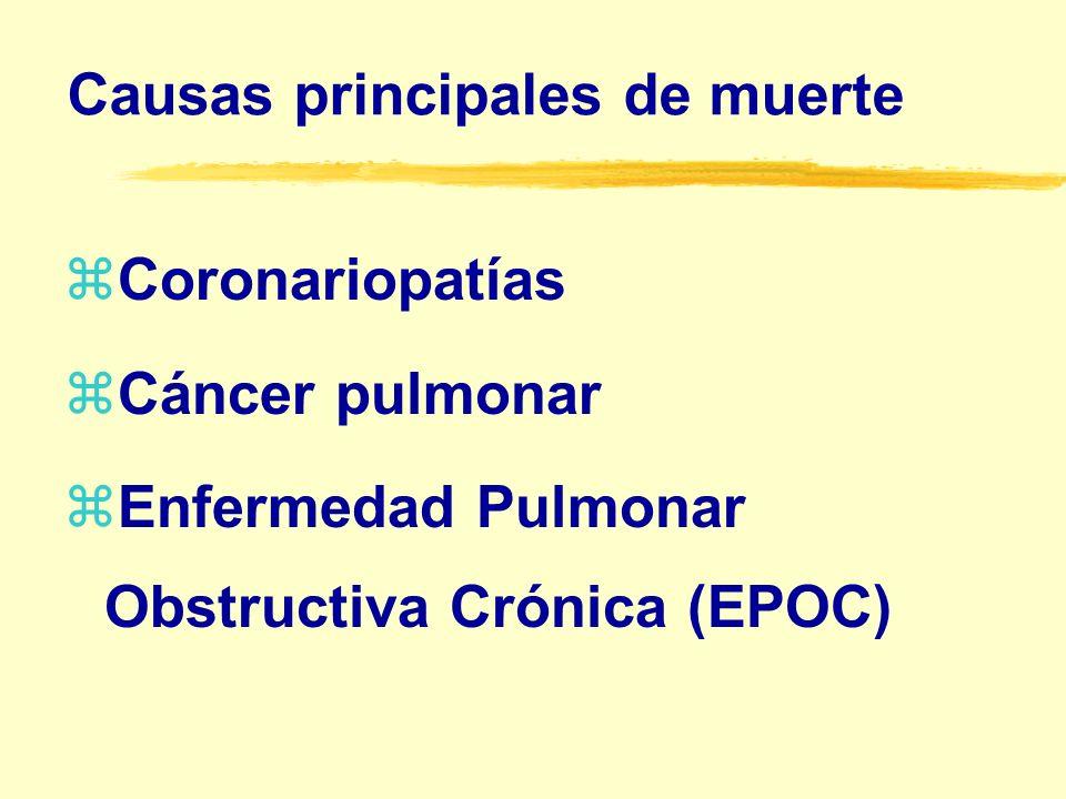 Complicaciones principales z Arteriopatía oclusiva periférica z Aneurisma aórtico z Diversos tipos de cáncer zUlcera péptica zReflujo esofágico z Osteoporosis z Cataratas z Lesiones en incendios.