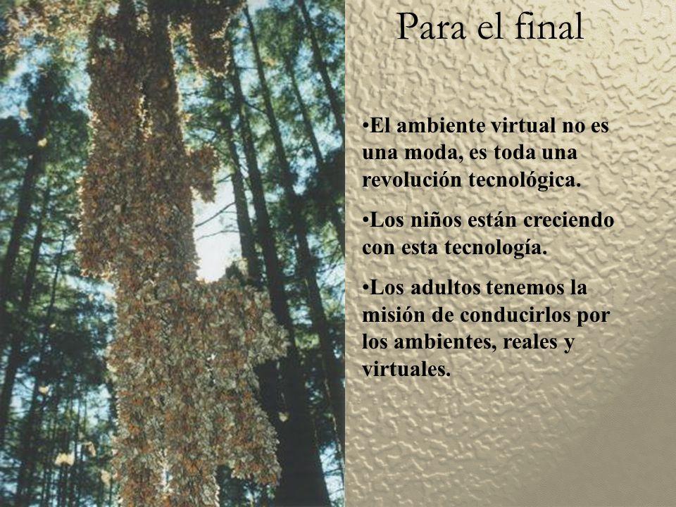 Para el final El ambiente virtual no es una moda, es toda una revolución tecnológica.