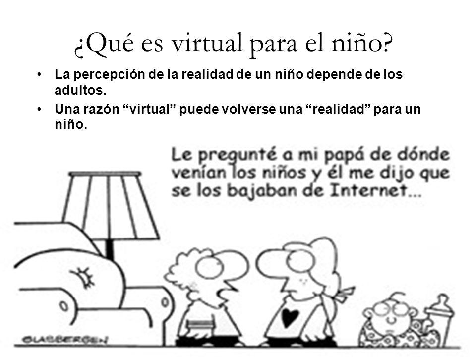 ¿Qué es virtual para el niño. La percepción de la realidad de un niño depende de los adultos.