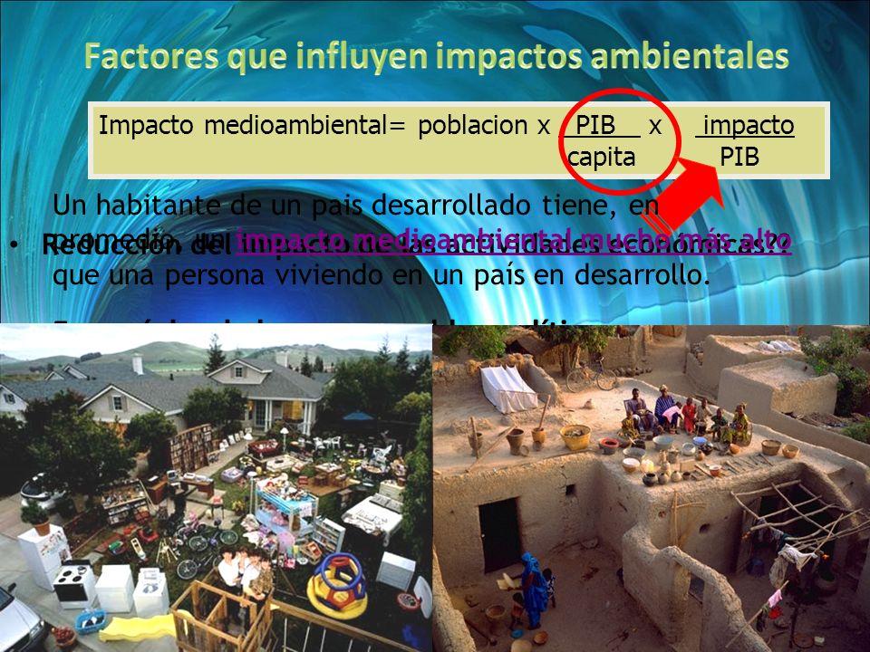 Volumen vs impactos.Independiente vs dentro de un ACV.