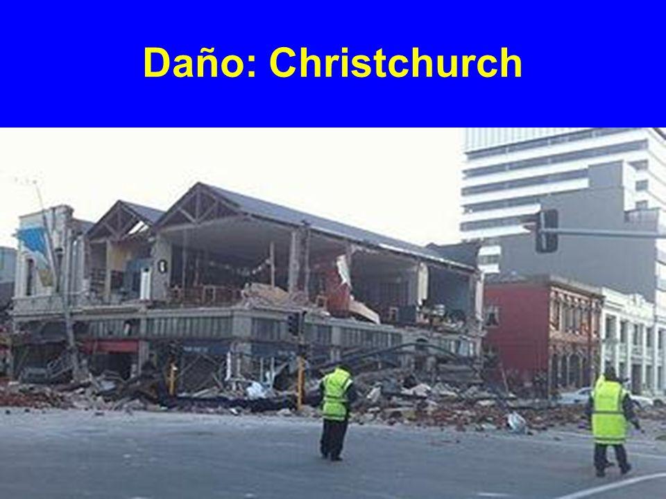 Mucho daño ocurrió en el área central de la ciudad comprendiendo principalmente antiguos edificios de ladrillo y mampostería no reforzada.
