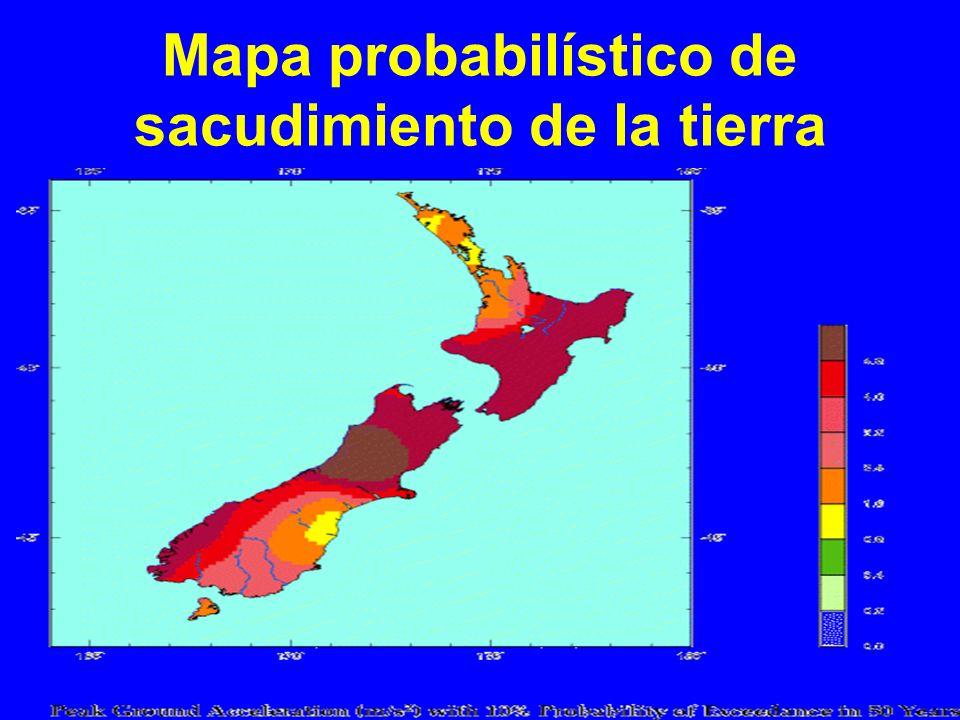 Mapa probabilístico de sacudimiento de la tierra
