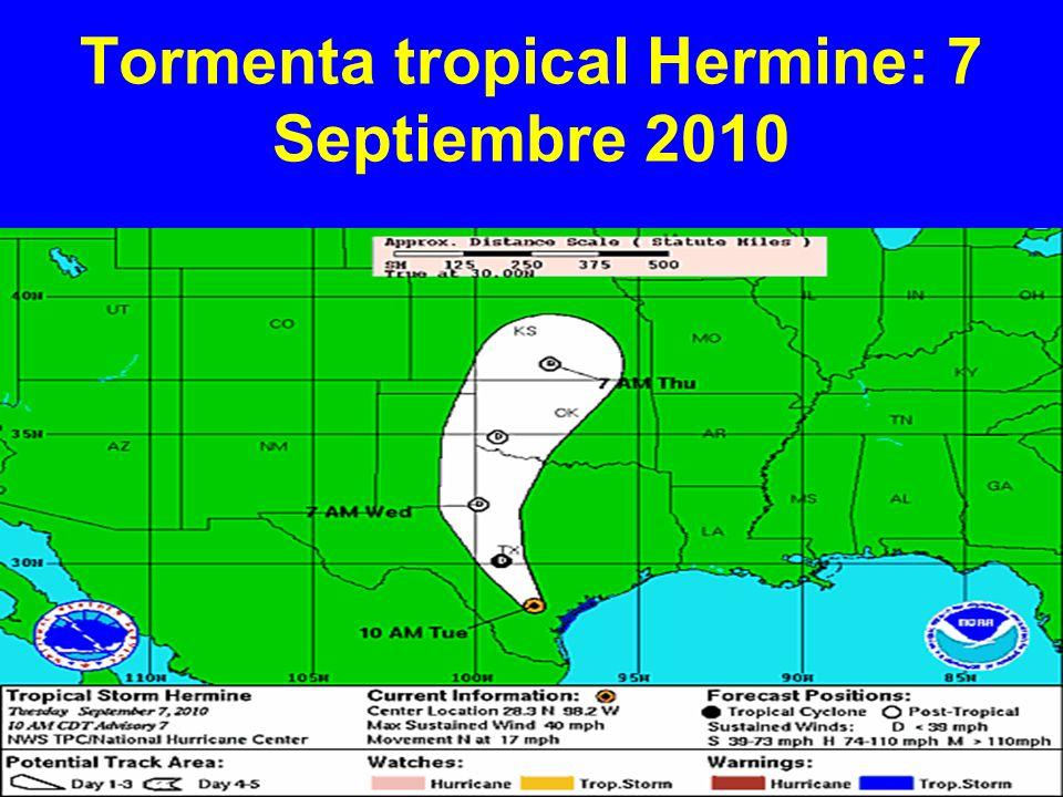 Tormenta tropical Hermine: 7 Septiembre 2010