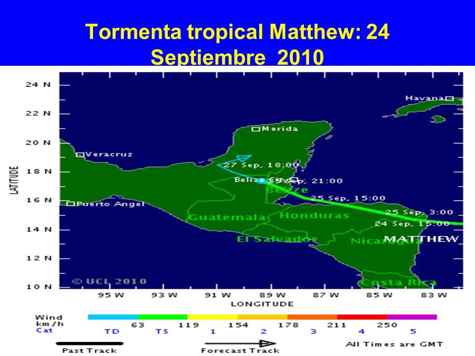 Tormenta tropical Matthew: 24 Septiembre 2010