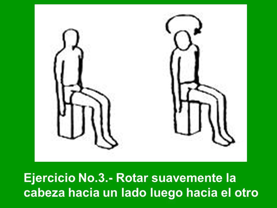 Ejercicio No.3.- Rotar suavemente la cabeza hacia un lado luego hacia el otro