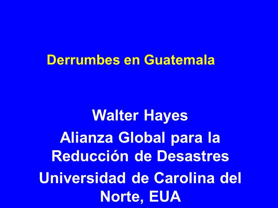 Derrumbes en Guatemala Walter Hayes Alianza Global para la Reducción de Desastres Universidad de Carolina del Norte, EUA