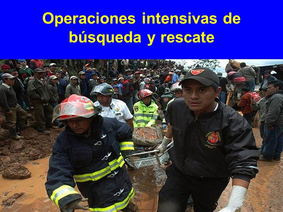 Operaciones intensivas de búsqueda y rescate