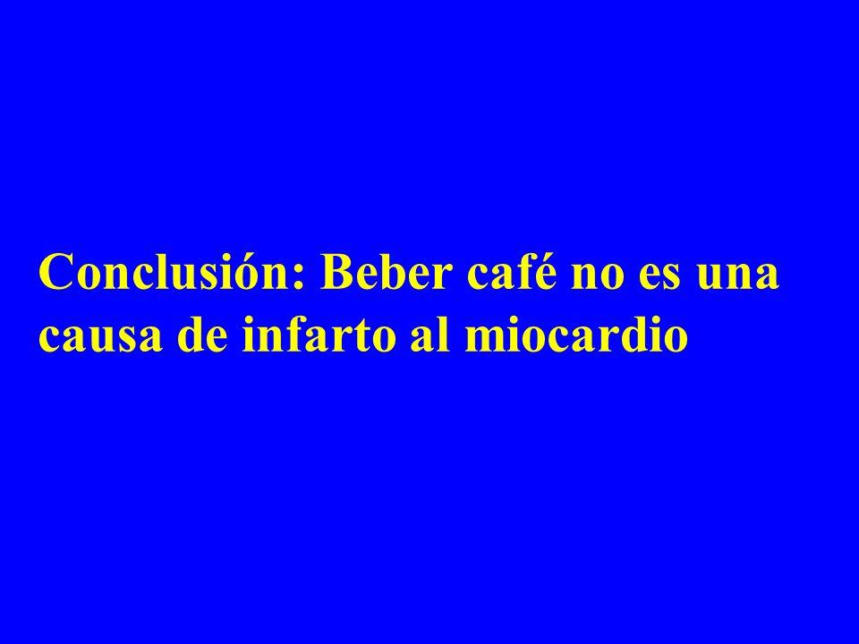 Conclusión: Beber café no es una causa de infarto al miocardio