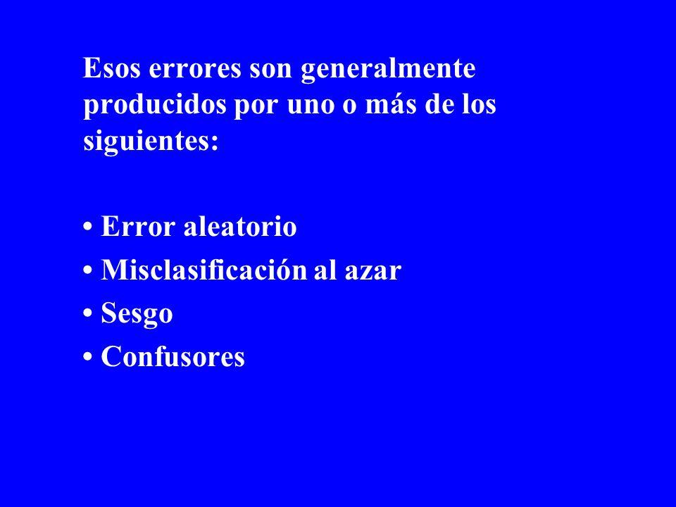 Error aleatorio Desviación de resultados e inferencias de la verdad, occurriendo como resultado del efecto del azar.