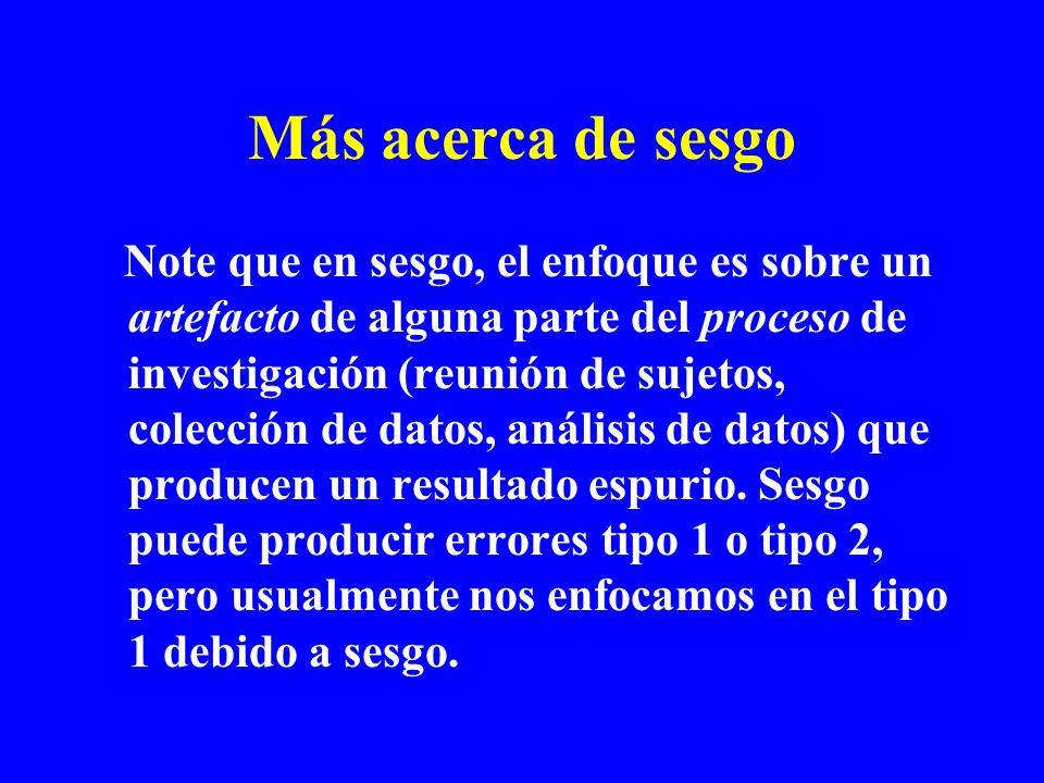 Mós sobre sesgo Sesgo puede ser conciente o inconciente.