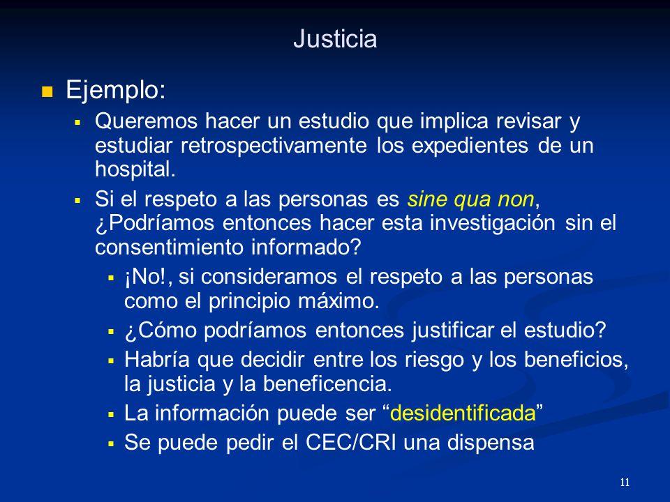 12 Justicia Estudio de Fase I.Cuatro pacientes.
