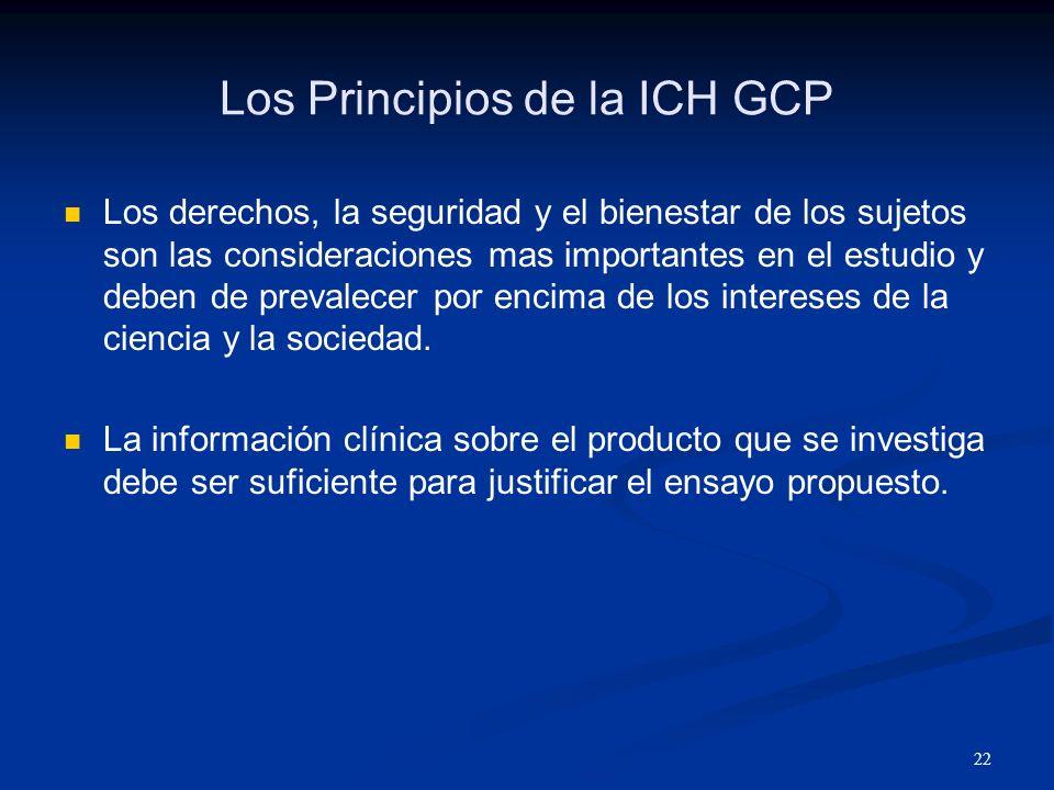 23 Los Principios de la ICH GCP Los ensayos clínicos deben ser científicamente sólidos y claramente descritos en un protocolo.
