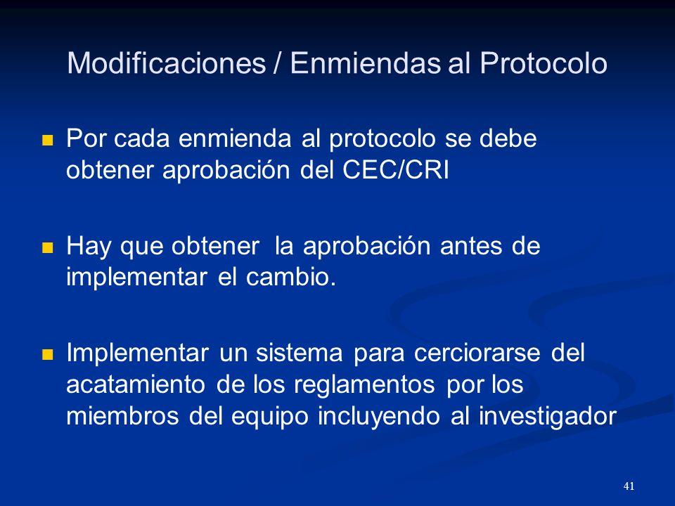 42 Responsabilidad Nº 6 Obtener consentimiento informado y convenir con las regulaciones y lo aprobado por el EC/CRI.