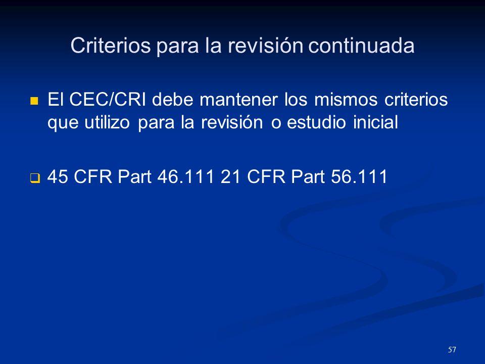 58 Responsabilidad Nº 9 Informar al CEC/CRI cualquier Lesión o lesiones al sujeto Reacciones o eventos inesperados Cualquier otro problema inesperado que presente riesgo a los sujetos y a otros.