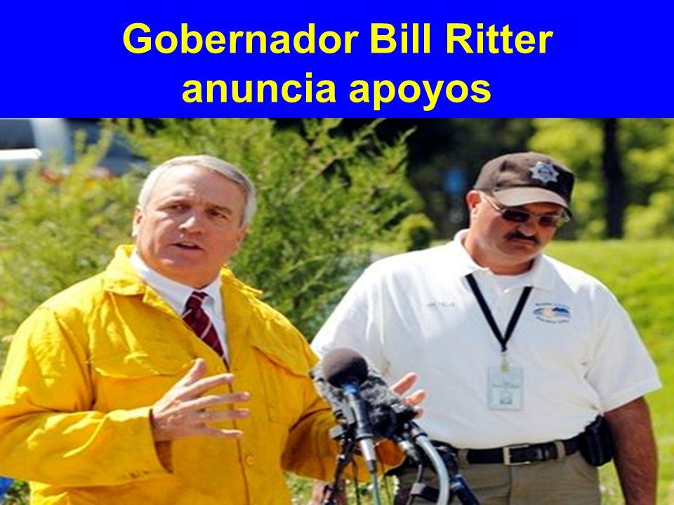 Gobernador Bill Ritter anuncia apoyos