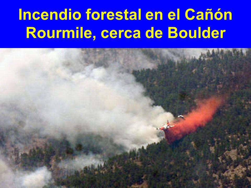 Incendio forestal en el Cañón Rourmile, cerca de Boulder