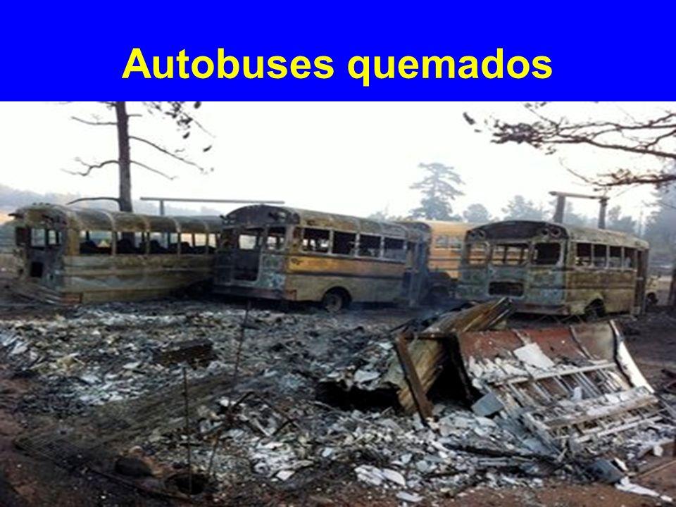 Autobuses quemados
