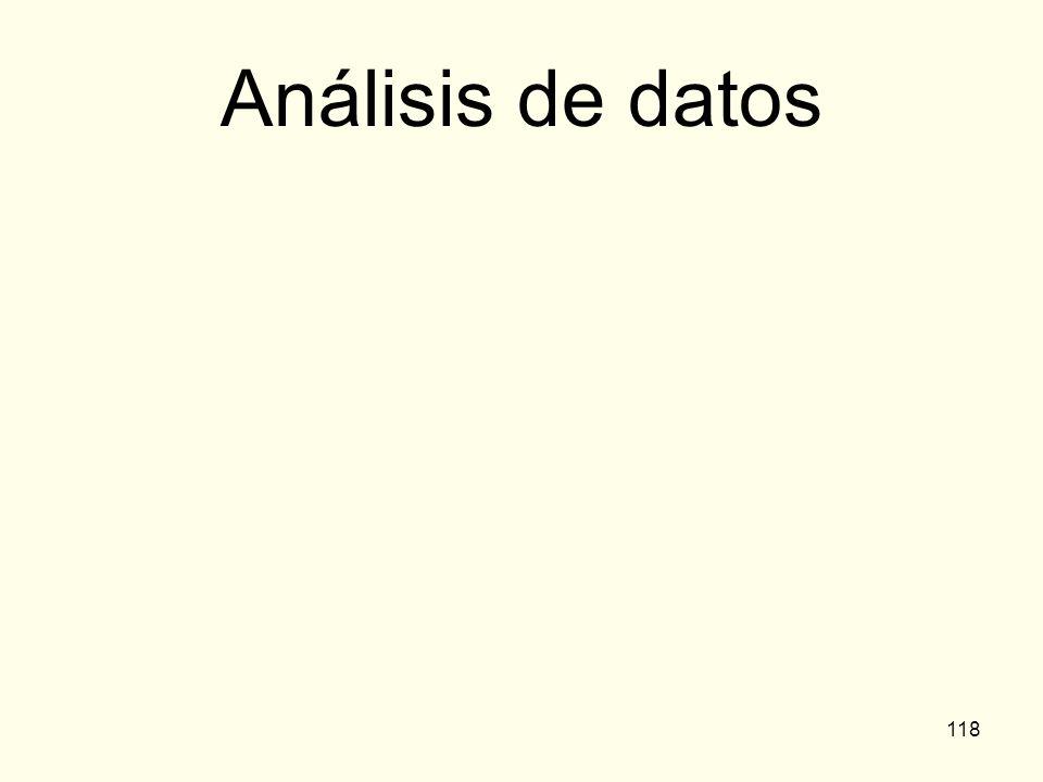 118 Análisis de datos