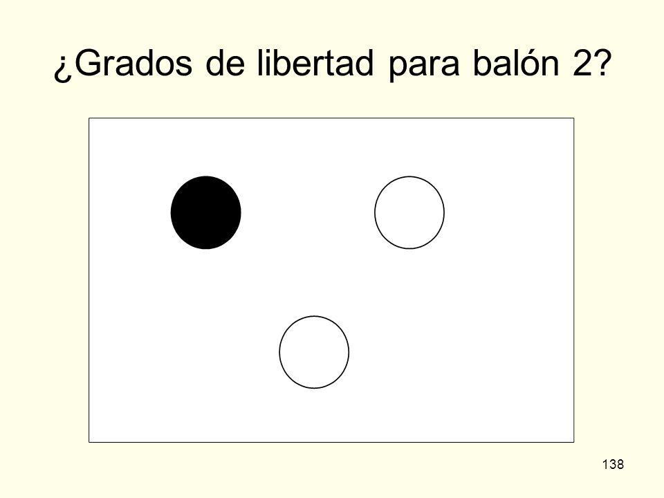 138 ¿Grados de libertad para balón 2?
