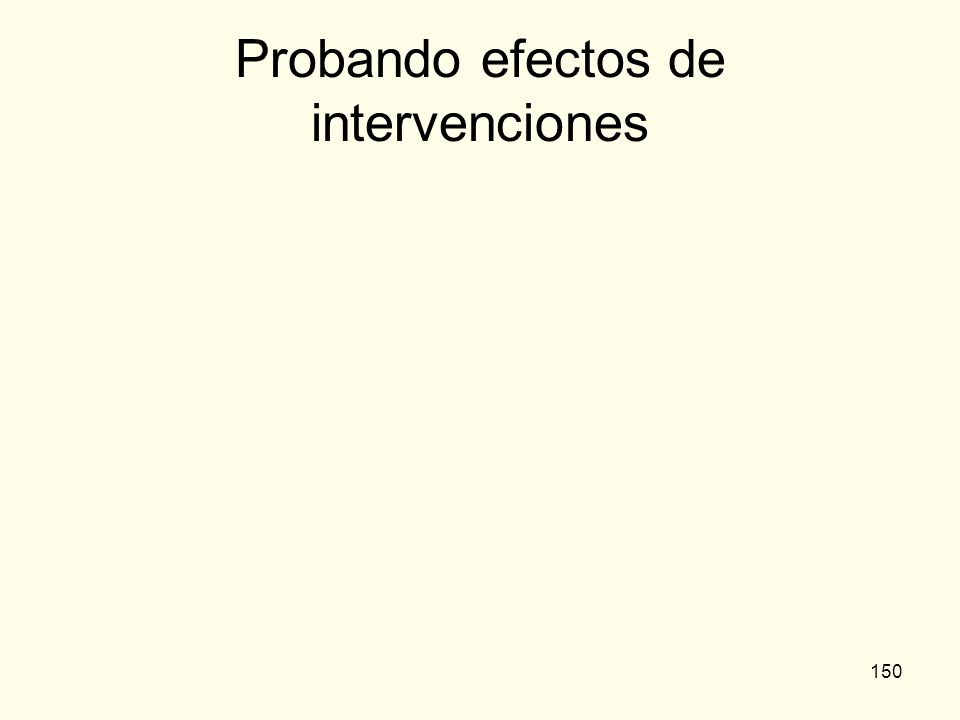 150 Probando efectos de intervenciones