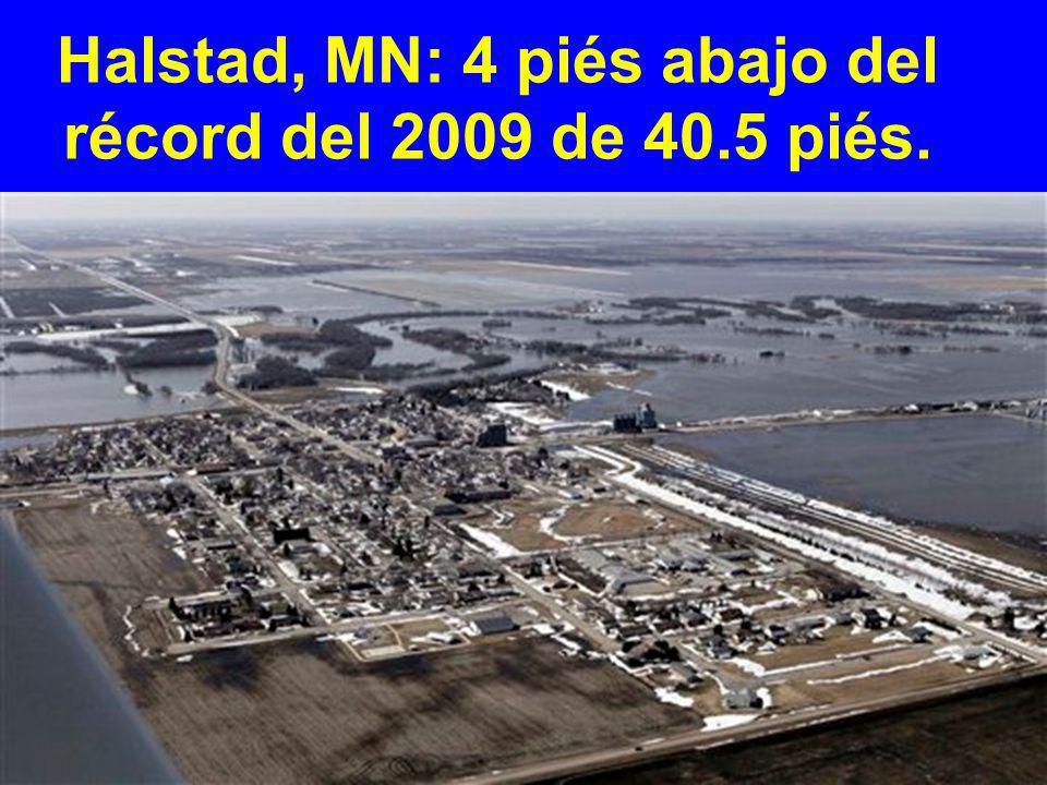 Fargo, ND: el río Rojo crece a 4 piés por debajo del record el 21 de Marzo