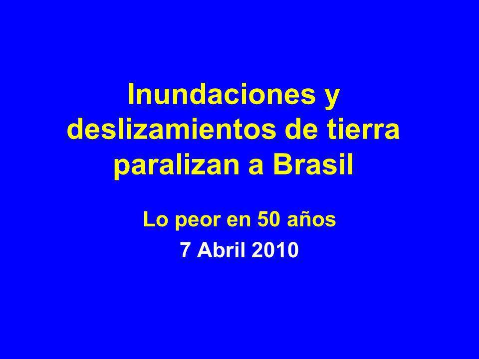 Río de Janeiro: amplia diseminación de la inundación