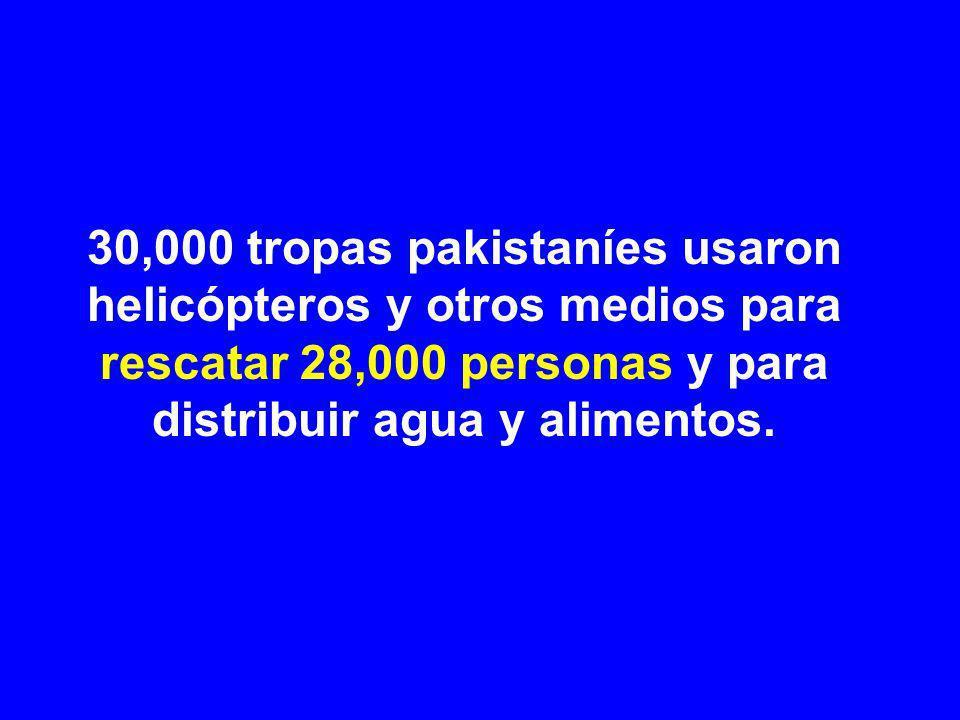 Nowshera: ejército pakistaní distribuyendo agua