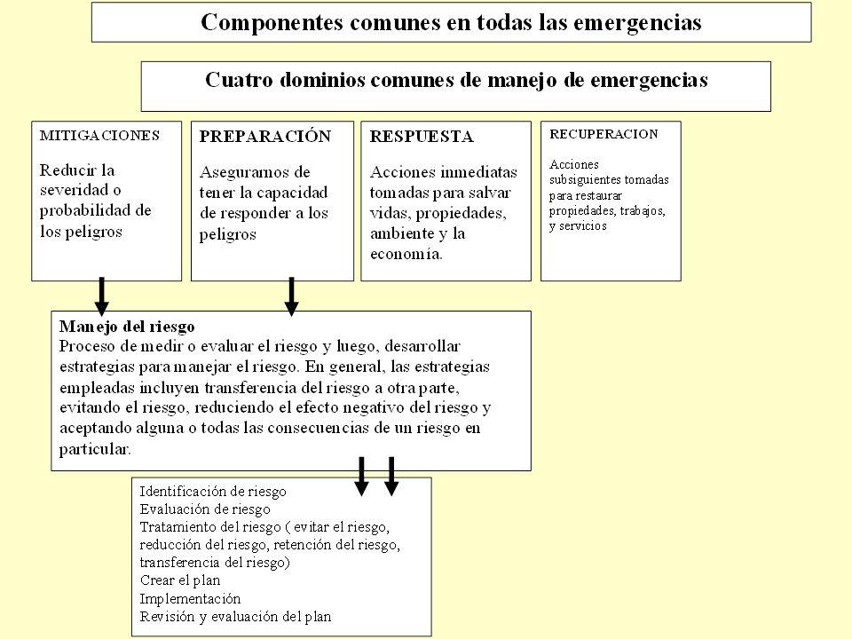 Introducción –Además de los cuatro dominios comúnes que son compartidos por todas las emergencias, un quinto es necesario: Coordinación de comunicaciones – mensajes verbales y no verbales que conllevan el significado, entre los participantes.