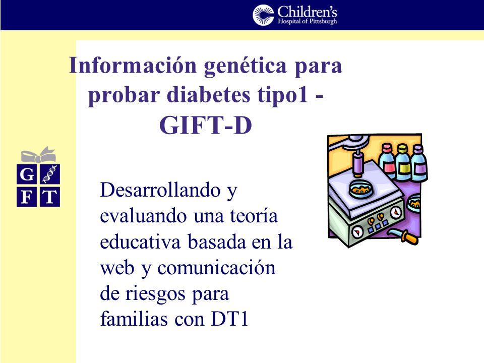 Información genética para probar diabetes tipo1 - GIFT-D Desarrollando y evaluando una teoría educativa basada en la web y comunicación de riesgos par