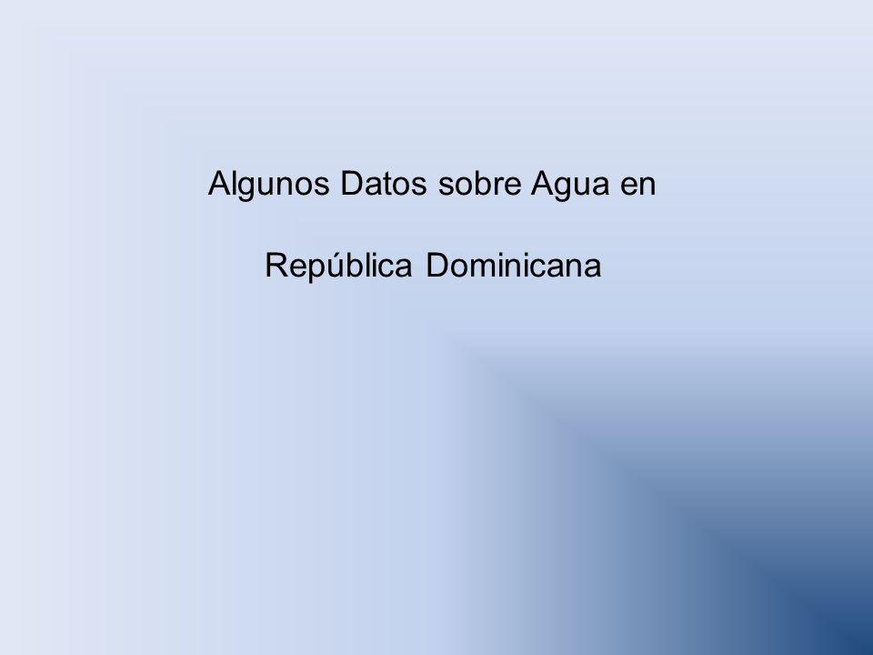 Algunos Datos sobre Agua en República Dominicana