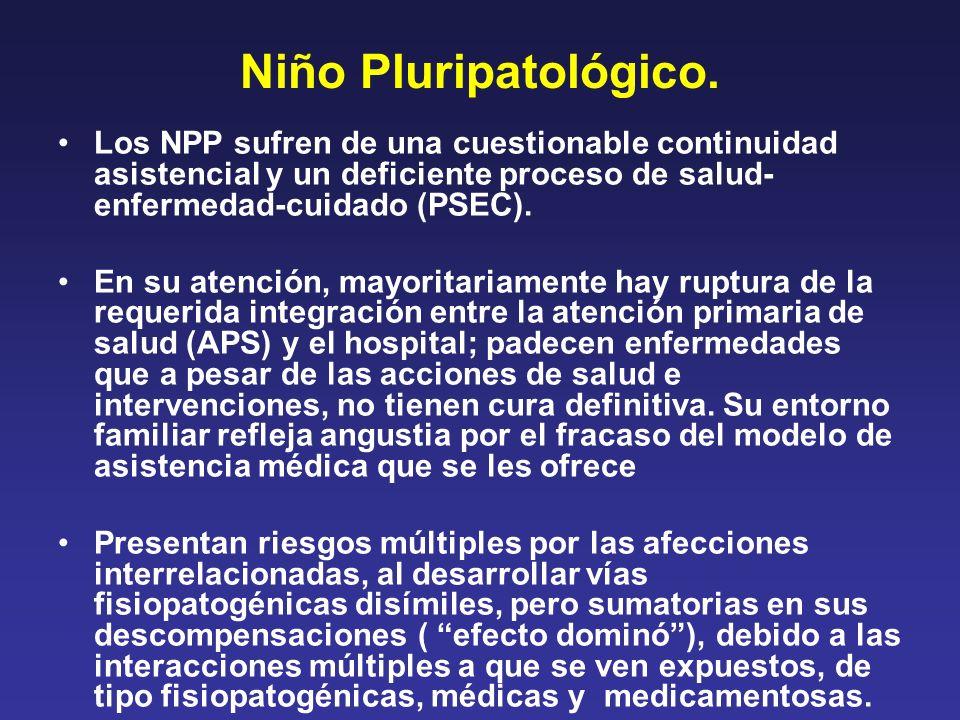Niño Pluripatológico. Los NPP sufren de una cuestionable continuidad asistencial y un deficiente proceso de salud- enfermedad-cuidado (PSEC). En su at