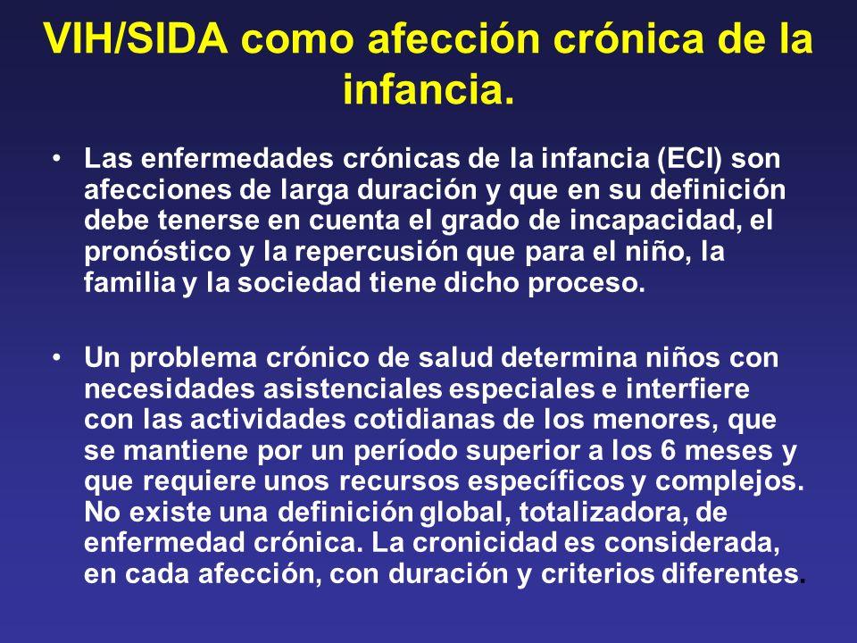 VIH/SIDA como afección crónica de la infancia. Las enfermedades crónicas de la infancia (ECI) son afecciones de larga duración y que en su definición