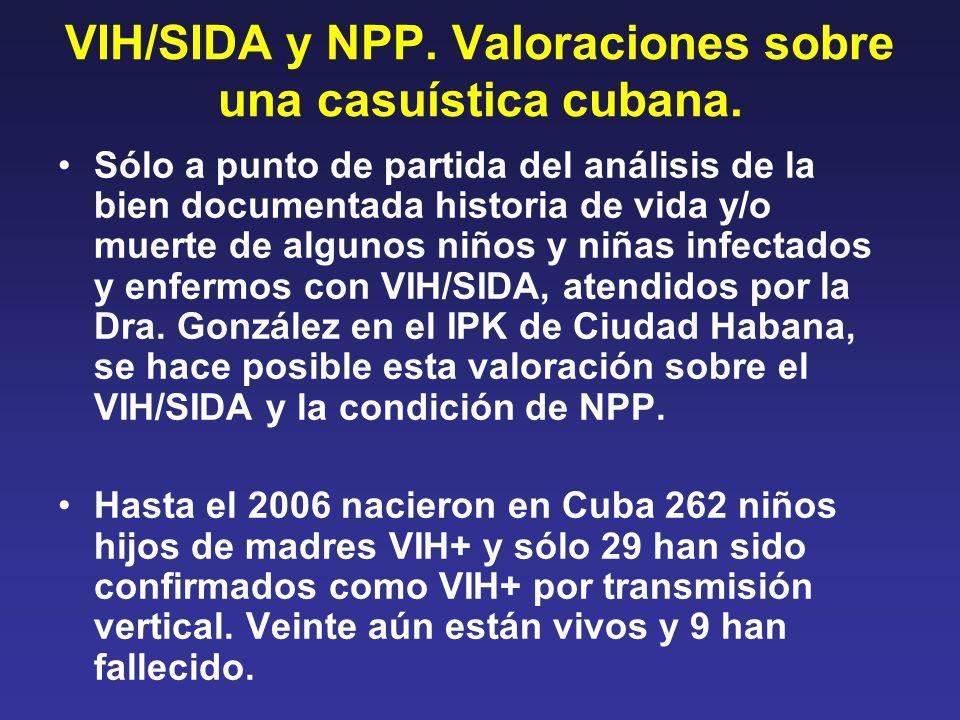 VIH/SIDA y NPP. Valoraciones sobre una casuística cubana. Sólo a punto de partida del análisis de la bien documentada historia de vida y/o muerte de a