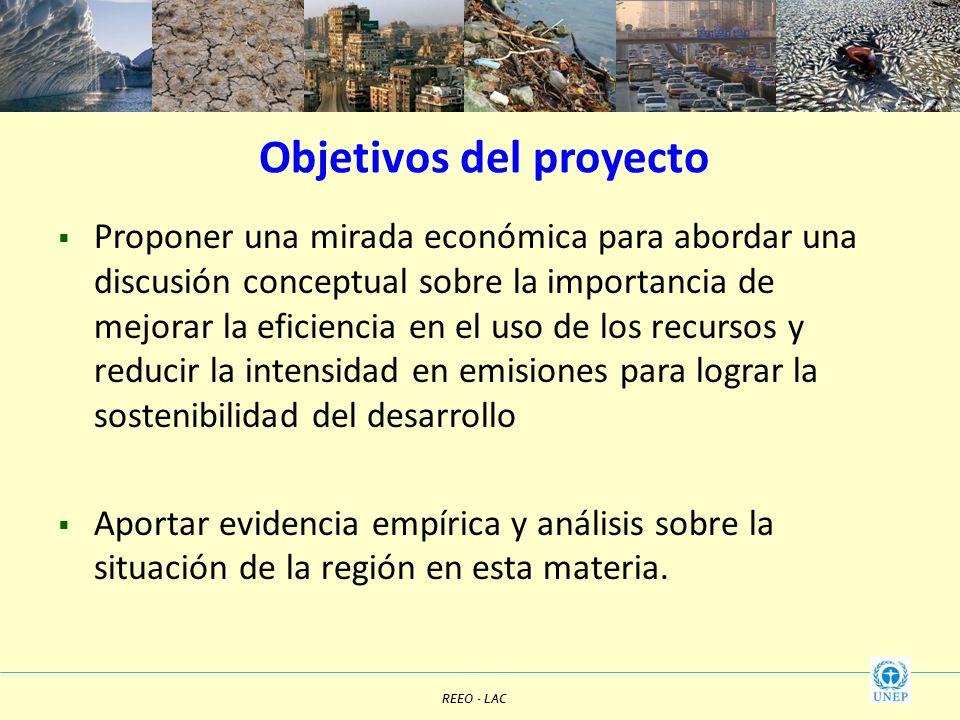 Objetivos del proyecto Proponer una mirada económica para abordar una discusión conceptual sobre la importancia de mejorar la eficiencia en el uso de