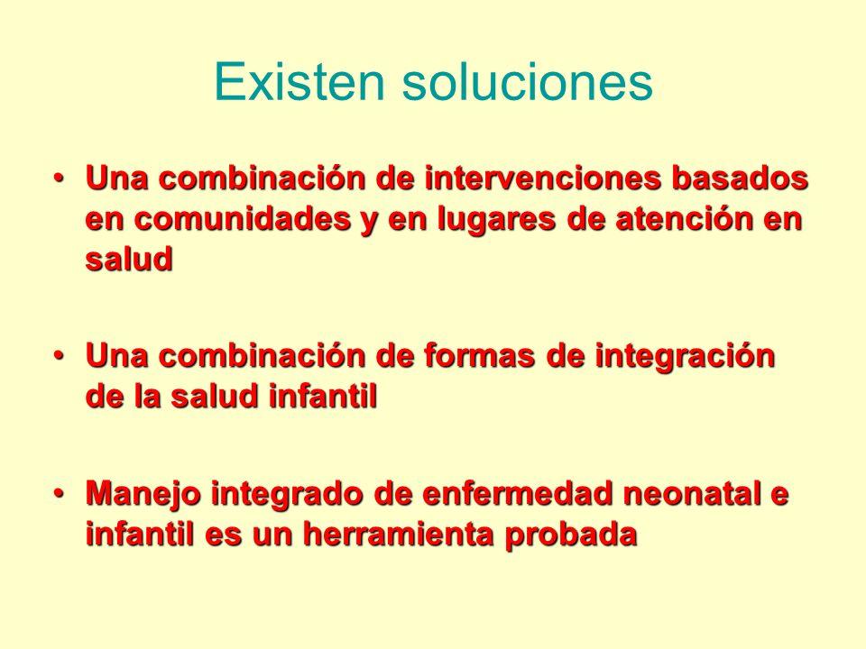 Existen soluciones Una combinación de intervenciones basados en comunidades y en lugares de atención en saludUna combinación de intervenciones basados