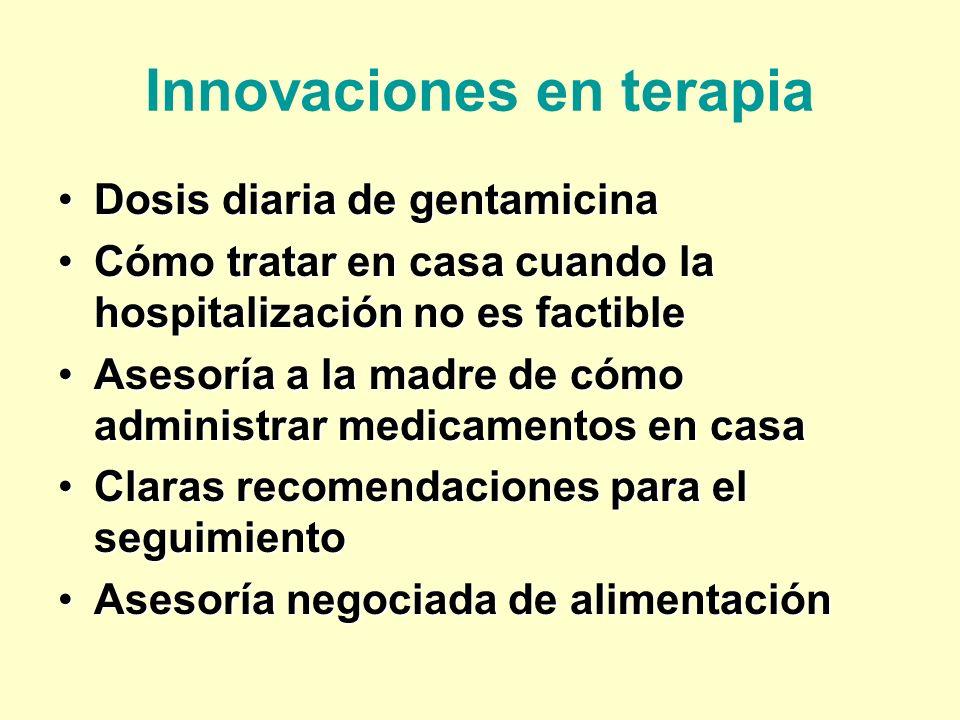 Innovaciones en terapia Dosis diaria de gentamicinaDosis diaria de gentamicina Cómo tratar en casa cuando la hospitalización no es factibleCómo tratar