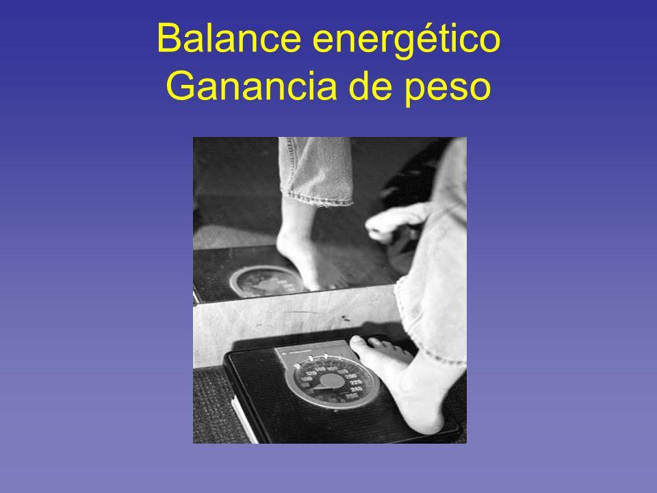 Balance energético Ganancia de peso