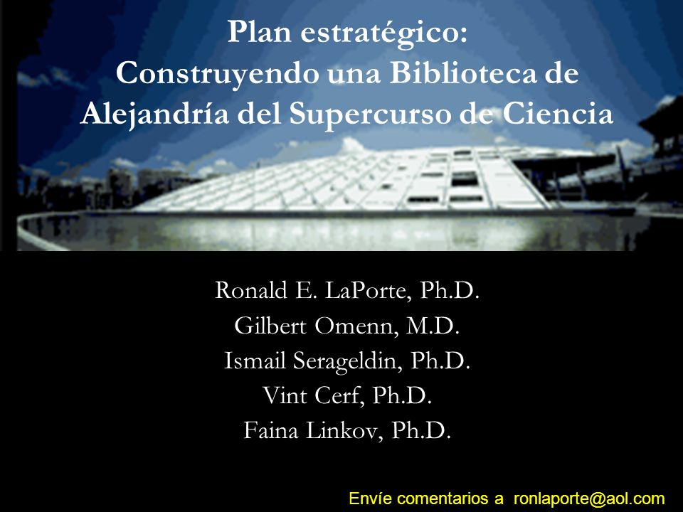 Construyendo un Supercurso Científico Contenido sometido a investigación Red Sistema de distribución Financiamiento