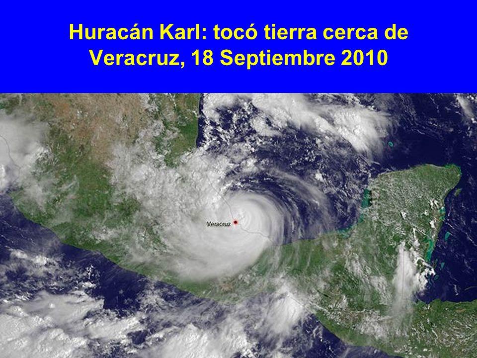 Huracán Karl: tocó tierra cerca de Veracruz, 18 Septiembre 2010
