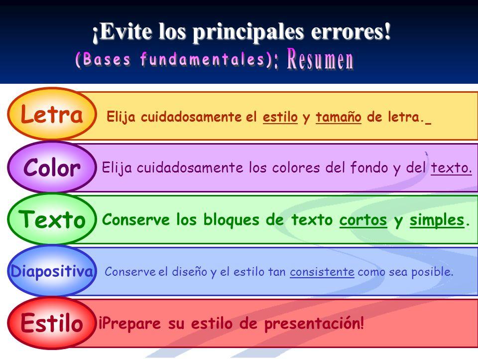 ¡Evite los principales errores.Elija cuidadosamente el estilo y tamaño de letra.