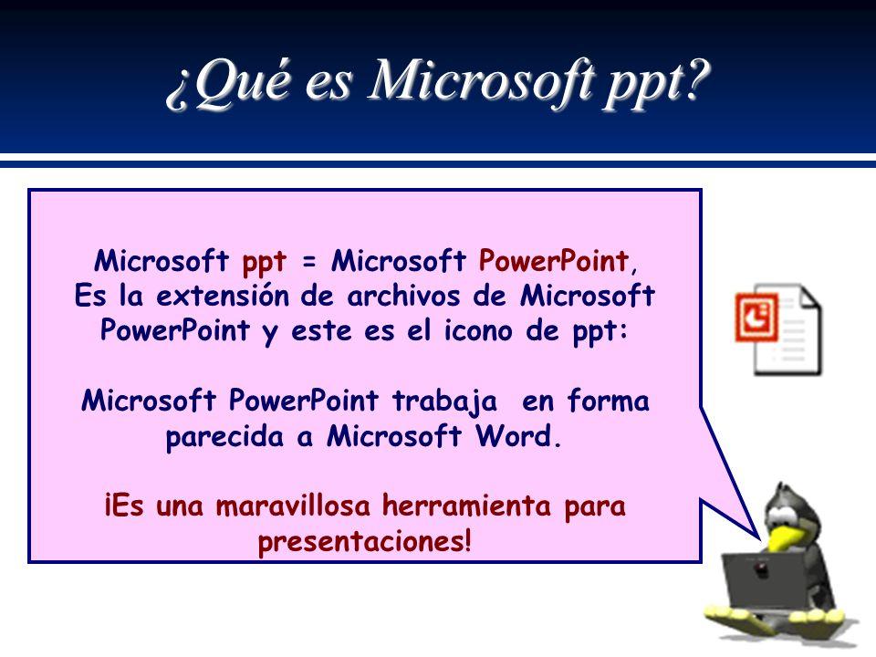 ¿Qué es Microsoft ppt.