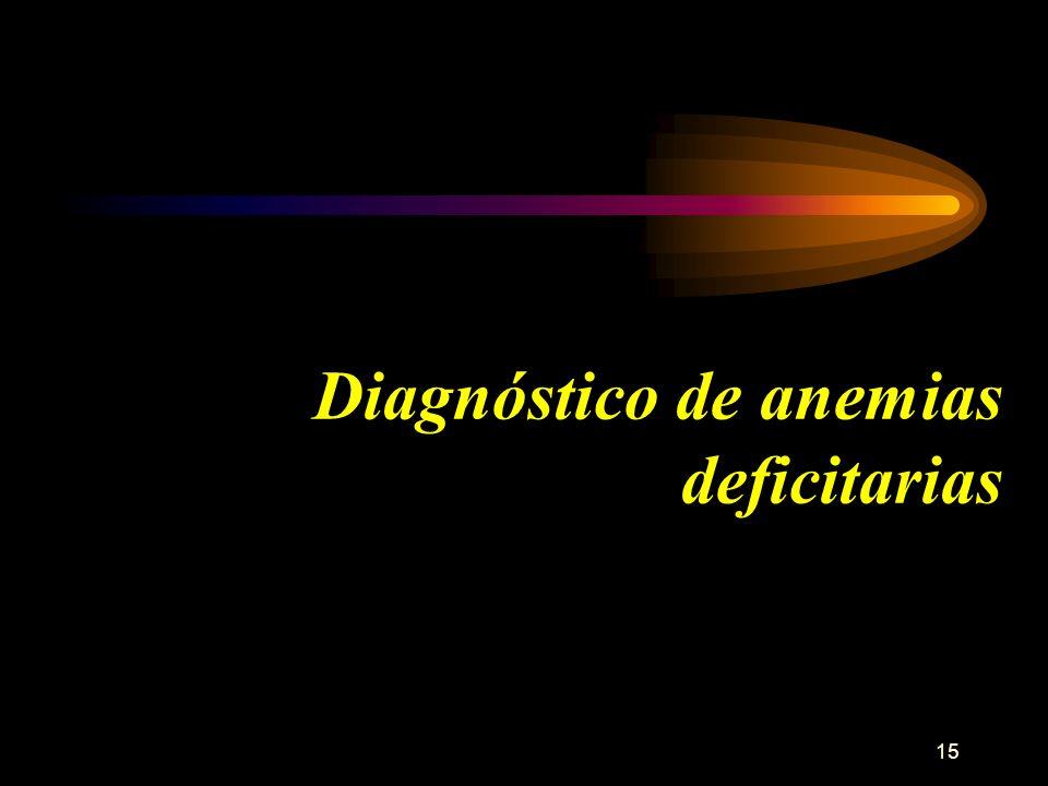 15 Diagnóstico de anemias deficitarias
