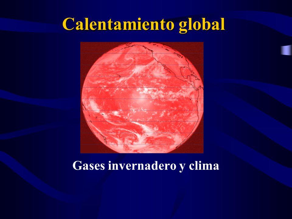 Calentamiento global Gases invernadero y clima