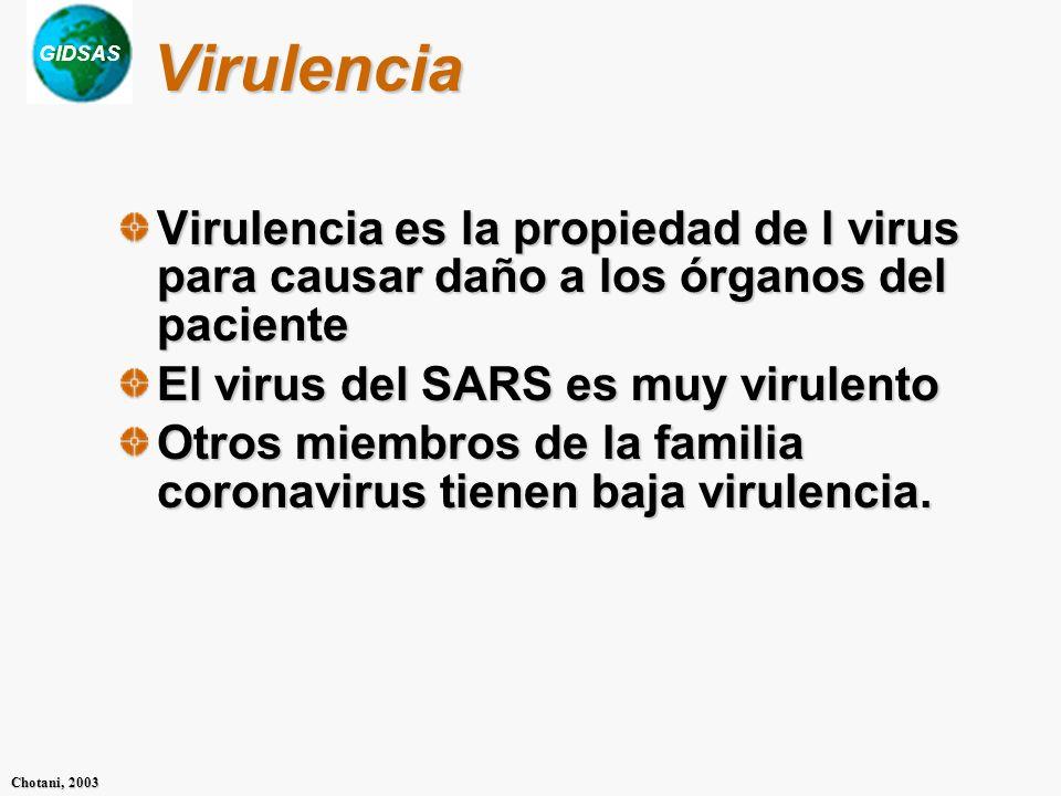 GIDSAS Chotani, 2003 Atenuación Atenuación es un fenómeno visto en algunos miembros de la familia de los coronavirus, donde la virulencia disminuye cuando se transmite de una persona a otra.