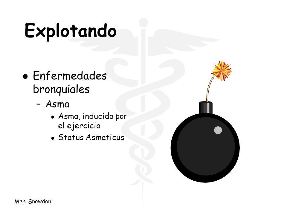 Meri Snowdon Explotando l Enfermedades bronquiales –Asma l Asma, inducida por el ejercicio l Status Asmaticus
