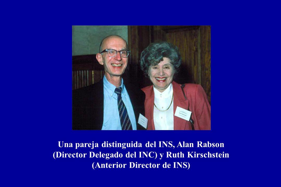 Una pareja distinguida del INS, Alan Rabson (Director Delegado del INC) y Ruth Kirschstein (Anterior Director de INS)